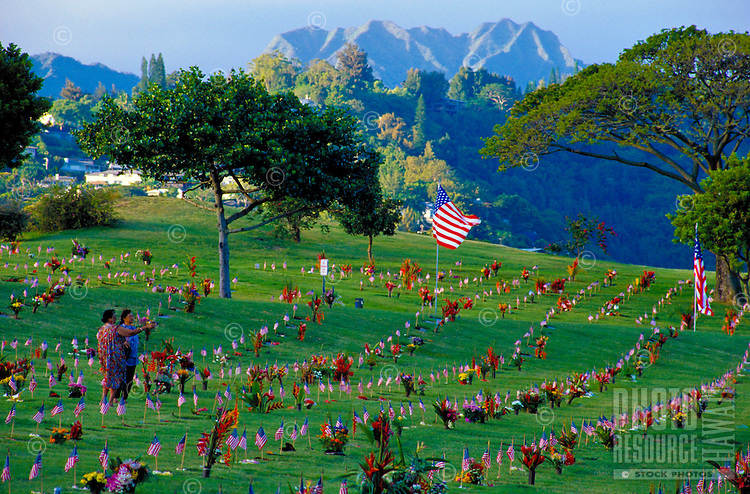 Memorial day at Punchbowl Cemetery, Honolulu