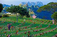 Memorial day at Punchbowl Cemetery, Honolulu