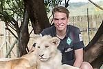 07.01.2019, Broederstroom, Johannesburg, RSA, TL Werder Bremen Johannesburg Tag 05 - Besuch Lion and Safari Park<br /> <br /> im Bild / picture shows <br /> <br /> Luca Plogmann (Werder Bremen #40)<br /> mit einem Loewenbaby<br /> <br /> Foto © nordphoto / Kokenge