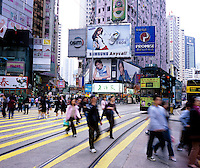 Causeway Bay shopping district pedestrian crossing is the busiest area of Hong Kong..