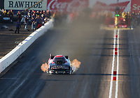 Feb 22, 2020; Chandler, AZ, USA; NHRA funny car driver Tommy Johnson Jr during qualifying for the Arizona Nationals at Wild Horse Pass Motorsports Park. Mandatory Credit: Mark J. Rebilas-USA TODAY Sports