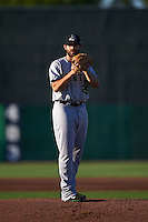 Clinton LumberKings pitcher Eddie Campbell (29) gets ready to deliver a pitch during a game against the Burlington Bees on August 20, 2015 at Community Field in Burlington, Iowa.  Burlington defeated Clinton 3-2.  (Mike Janes/Four Seam Images)