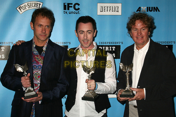 ALI SELIM, ALAN CUMMMING & JAMES BIGHAM.The 2007 Independent Spirit Awards held on the Santa Monica Pier, Santa Monica, California, USA,.24 February 2007..pressroom press room half length trophies award.CAP/ADM/BP.©Byron Purvis/AdMedia/Capital Pictures.