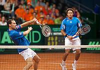19-9-09, Netherlands,  Maastricht, Tennis, Daviscup Netherlands-France, Dubbles   Tsonga en Llodra(l)