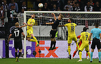 Kopfball Martin Hinteregger (Eintracht Frankfurt) - 02.05.2019: Eintracht Frankfurt vs. Chelsea FC London, UEFA Europa League, Halbfinale Hinspiel, Commerzbank Arena DISCLAIMER: DFL regulations prohibit any use of photographs as image sequences and/or quasi-video.