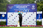 Zihao Zhang of China tees off on the 1st hole during the Round 1 of the Faldo Series Asia Grand Final at Mission Hills on March 2, 2011 in Shenzhen, China. Photo by Raf Sanchez / Faldo Series