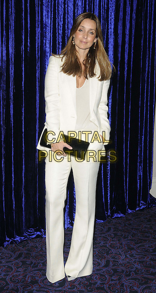 Louise Redknapp.attended the Retail Trust London Ball, Grosvenor House Hotel, Park Lane, London, England..January 28th, 2013.full length white blazer top trousers suit black clutch bag.CAP/CAN.©Can Nguyen/Capital Pictures.