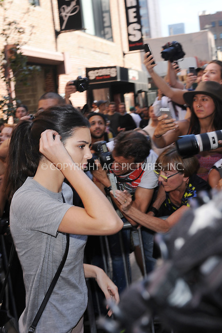 WWW.ACEPIXS.COM<br /> September 16, 2015 New York City<br />  <br /> Kendall Jenner leaving Kanye West Fashion Show on September 16, 2015 in New York City.<br /> <br /> <br /> <br /> Credit: Kristin Callahan/ACE<br />  <br /> Tel: 646 769 0430<br /> Email: info@acepixs.com<br /> www.acepixs.com