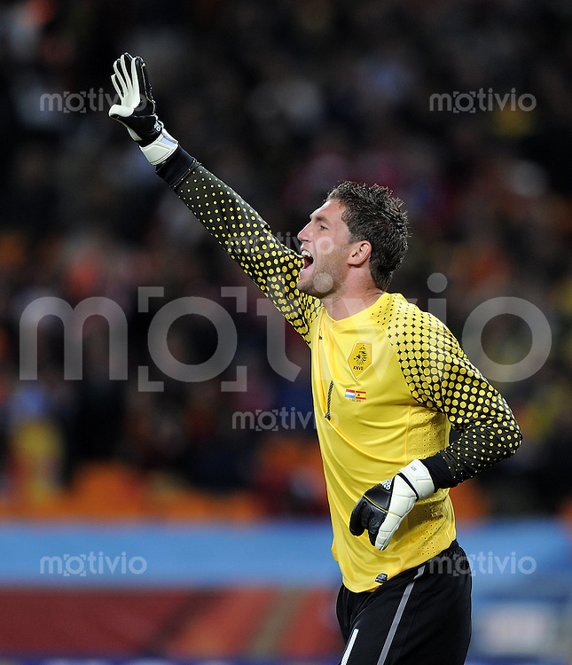 FUSSBALL WM 2010  FINALE   11.07.2010 Holland - Spanien Maarten STEKELENBURG (Holland)