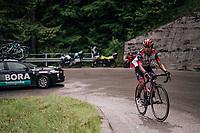 John Darwin Atapuma (COL/UAE-Emirates) up the Passo di Sant'Antonio<br /> <br /> stage 15: Tolmezzo – Sappada (176 km)<br /> 101th Giro d'Italia 2018