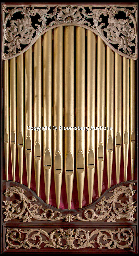 BNPS.co.uk (01202 558833)<br /> Pic: BloomsburyAuctions/BNPS<br /> <br /> A chamber organ by John Byfield junior estimate £50,000.<br /> <br /> No strings attached - Worlds finest collection of historic piano's up for sale…<br /> <br /> An incredible collection of historic pianos and musical instruments that have been on display in a grand country home for four decades are expected to fetch more than half a million pounds at auction.<br /> <br /> The array of antique pianos, clavichords, harpsichords and other instruments, which span 350 years of music history, were accumulated by concert pianist Richard Burnett and stored at Finchcocks, his baroque house in idyllic Kent countryside near Tunbridge Wells.<br /> <br /> More than 70 keyboard instruments, including some of the best playing instruments in the world, are up for sale, with some expected to fetch up to £70,000.<br /> <br /> The sale by Dreweatts Auctions in Newbury, Berkshire, is on May 11.