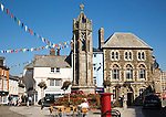 War memorial in market square, Launceston, Cornwall, England, UK