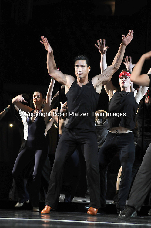 "Mario Lopez,"" Extra TV"" host and ""Dancing with the Stars"".finalist.at a rehearsal for ""A Chorus Line"" on April 11, 2008 at the Gerald Schoenfeld Theatre. Mario will be .playing on Broadway from April 15, 2008 through September7, 2008. .Robin Platzer, Twin Images"