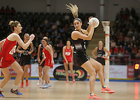 07.02.2017 Te Paea Selby-Rickit in action during the Wales v Silver Ferns netball test match at Swansea University at Ice Arena Wales. Mandatory Photo Credit ©Ian Cook/Michael Bradley Photography.