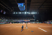 Arena Loire,  Trélazé,  France, 16 April, 2016, Semifinal FedCup, France-Netherlands, overall vieuw<br /> Photo: Henk Koster/Tennisimages