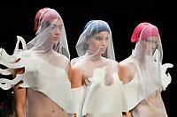 7 September 2017, Melbourne - Model parades design by student Duminda Thalagala during the Melbourne Fashion Week in Melbourne, Australia. (Photo Sydney Low / asteriskimages.com)