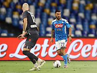 19th July 2020; Stadio San Paolo, Naples, Campania, Italy; Serie A Football, Napoli versus Udinese;  Matteo Politano of Napoli  looks to move forward