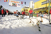 March 3, 2007  Jerry Sousa during the Iditarod ceremonial start day in Anchorage