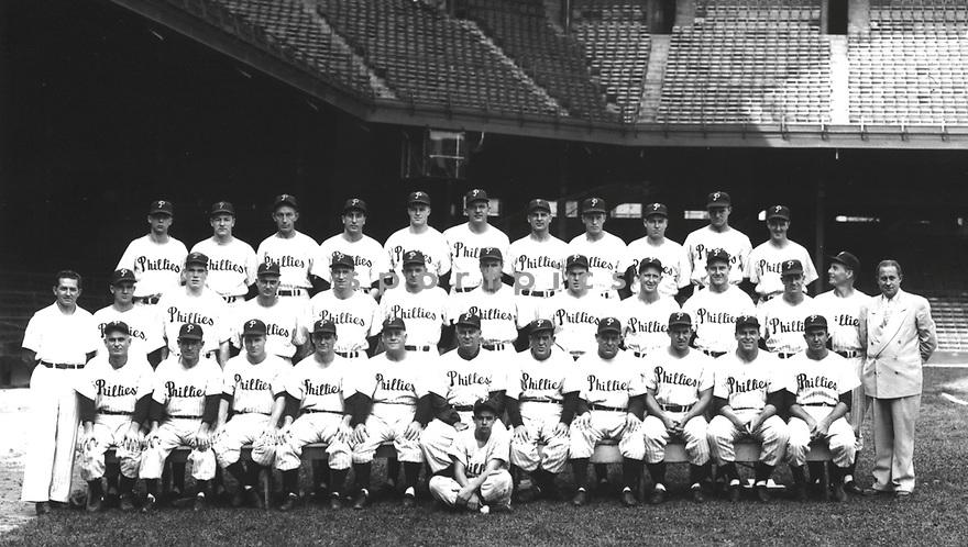 Team photo of the 1950 Philadelphia Phillies