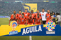 PALMIRA - COLOMBIA, 20-11-2019: Jugadores del America posan para una foto previo al e partido entre Deportivo Cali y América de Cali por la fecha 4, cuadrangulares semifinales, de la Liga Águila II 2019 jugado en el estadio Deportivo Cali de la ciudad de Palmira. / Players of America pose to a photo prior match for the date 4, quadrangulars semifinals, as part Aguila League II 2019 between Deportivo Cali and America de Cali played at Deportivo Cali stadium in Palmira city. Photo: VizzorImage / Gabriel Aponte / Staff