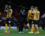 Richard Money manager of Cambridge Utd thanks his players - FA Cup Fourth Round replay - Manchester Utd  vs Cambridge Utd - Old Trafford Stadium  - Manchester - England - 03rd February 2015 - Picture Simon Bellis/Sportimage
