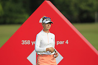 Jessica Korda (USA) in action on the 2nd during Round 3 of the HSBC Womens Champions 2018 at Sentosa Golf Club on the Saturday 3rd March 2018.<br /> Picture:  Thos Caffrey / www.golffile.ie<br /> <br /> All photo usage must carry mandatory copyright credit (&copy; Golffile   Thos Caffrey)