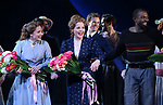Jessie Mueller, Renee Fleming, Joshua Henry during the Opening Night Curtain Call for 'Carousel' at the Imperial Theatre on April 12, 2018 in New York City.