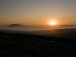 The sun sets over the Blasket Islands in County kerry as a low mist envelopes the sea on a beautiful autumn evening at the weekend..Picture by Don MacMonagle