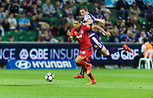 4th November 2017, nib Stadium, Perth, Australia; A-League football, Perth Glory versus Adelaide United; Karim Matmour of Adelaide United brings the ball forward