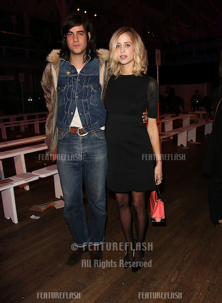 Peaches Geldof and husband Thomas Cohen at Matthew Williamson, part of London Fashion Week, A/W 2013, London, England. 17/02/2013 Picture by: Henry Harris / Featureflash