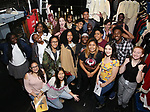 """Student performers backstage before The Rockefeller Foundation and The Gilder Lehrman Institute of American History sponsored High School student #EduHam matinee performance of """"Hamilton"""" at the Richard Rodgers Theatre on October 25, 2017 in New York City."""