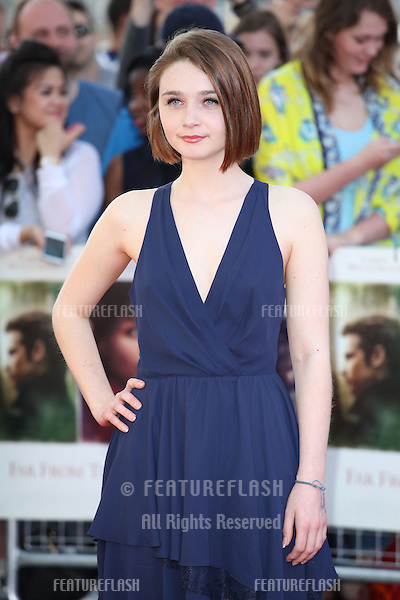 Jessica Barden attends the World Premiere of 'Far From The Madding Crowd' at BFI Southbank, London. 15/04/2015 Picture by: Alexandra Glen / Featureflash