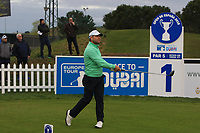 Trevor Fisher Jnr (RSA) on the 1st tee during Round 4 of the Open de Espana 2018 at Centro Nacional de Golf on Sunday 15th April 2018.<br /> Picture:  Thos Caffrey / www.golffile.ie<br /> <br /> All photo usage must carry mandatory copyright credit (&copy; Golffile | Thos Caffrey)