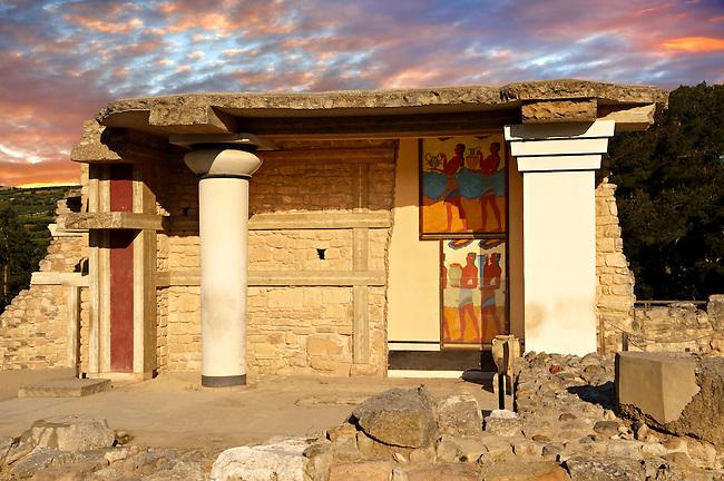 Arthur Evans reconstruction of  the South Propylaeum Knossos Minoan archaeological site, Crete