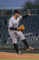 AZL White Sox starting pitcher Aaron Soto (36) follows through on his delivery during an Arizona League game against the AZL Indians 1 at Goodyear Ballpark on June 20, 2018 in Goodyear, Arizona. AZL Indians 1 defeated AZL White Sox 8-7. (Zachary Lucy/Four Seam Images)