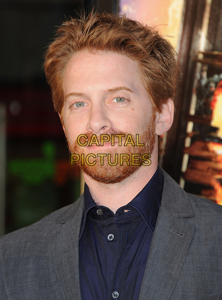 Seth Green<br /> 'The World's End' Los Angeles Premiere held at the Cinerama Dome, Hollywood, California, USA.<br /> August 21st, 2013<br /> headshot portrait beard grey gray facial hair black suit shirt <br /> CAP/DVS<br /> &copy;DVS/Capital Pictures