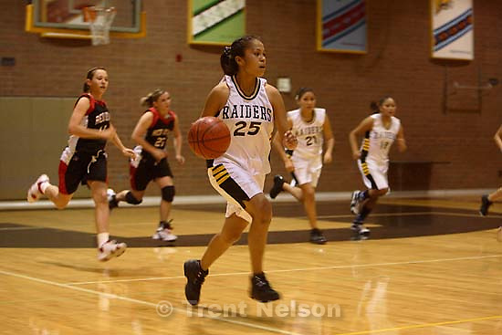 Whitehorse high school girls basketball vs. Grand.<br />