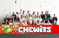 PICTURE BY VAUGHN RIDLEY/SWPIX.COM - Cricket - County Championship - Lancashire County Cricket Club 2012 Media Day - Old Trafford, Manchester, England - 03/04/12 - The Lancashire CCC players, coaches and management gather in The Point for the 2012 photo call.  Chewits sponsor.