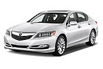 2014-2016 Acura RLX Base 4 Door Sedan angular front stock photos of front three quarter view