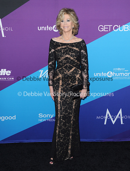 "Jane Fonda attends unite4:good and Variety presentation ""unite4:humanity"" Celebrating Good, Giving and Greatness Around the Globe held at Sony Picture Studios in Culver City, California on February 27,2014                                                                               © 2014 Hollywood Press Agency"
