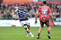 Anthony Perenise of Bath Rugby in possession. Gallagher Premiership match, between Gloucester Rugby and Bath Rugby on April 13, 2019 at Kingsholm Stadium in Gloucester, England. Photo by: Patrick Khachfe / Onside Images