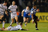 Semesa Rokoduguni of Bath Rugby takes on the Gloucester Rugby defence. Premiership Rugby Cup match, between Bath Rugby and Gloucester Rugby on February 3, 2019 at the Recreation Ground in Bath, England. Photo by: Patrick Khachfe / Onside Images