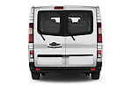 Straight rear view of a 2015 Renault Trafic Fourgon Extra L1H1 dCi 120 TT S&S 2.7T 4 Door Cargo Van 2WD Rear View  stock images
