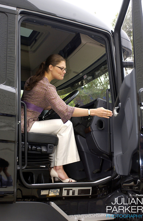 Crown Princess Victoria of Sweden visits the Scania Truck Centre in Melbourne, during her visit to promote 'Swedish Style In Australia'..s
