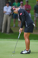 Ariya Jutanugarn (THA) sinks her putt on 2 during round 4 of the U.S. Women's Open Championship, Shoal Creek Country Club, at Birmingham, Alabama, USA. 6/3/2018.<br /> Picture: Golffile | Ken Murray<br /> <br /> All photo usage must carry mandatory copyright credit (&copy; Golffile | Ken Murray)