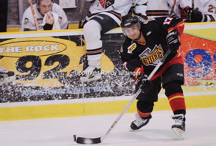 13 March 2004:  Dmitri Tarabrin.  The Johnstown Chiefs defeated the Wheeling Nailers 6-2 in ECHL action at the Cambria County War Memorial Arena in Johnstown, PA.