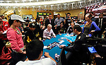 Jessica Ngu. left, and Jong-Hyun Lim in an all in.  Lim was eliminated.