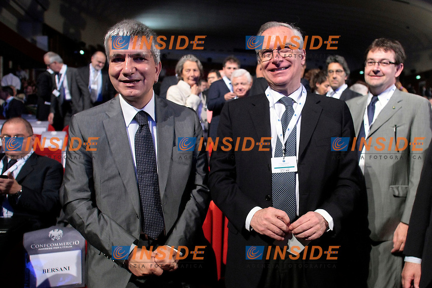 Nichi Vendola e Guglielmo Epifani<br /> Roma 12/06/2013 Auditorium della Conciliazione. Assemblea Annuale di Confcommercio 2013.<br /> Photo Samantha Zucchi Insidefoto