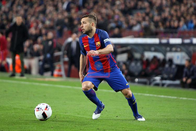 Copa del Rey 2016/2017 - Semifinal vuelta.<br /> FC Barcelona vs Atletico Madrid: 1-1.<br /> Jordi Alba.