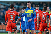 5th November 2017, Damson Park, Solihull, England; FA Cup first round, Solihull Moors versus Wycombe Wanderers; Liam Daly of Solihull Moors and Joe Jacobson of Wycombe Wanderers shake hands
